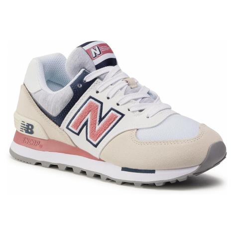 Sneakersy NEW BALANCE - WL574VAC Biały Kolorowy