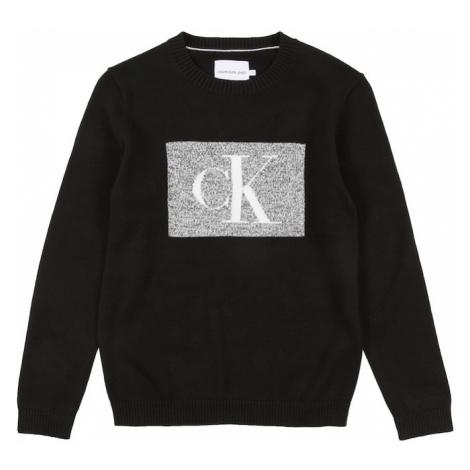 Calvin Klein Jeans Sweter czarny / nakrapiany szary / biały