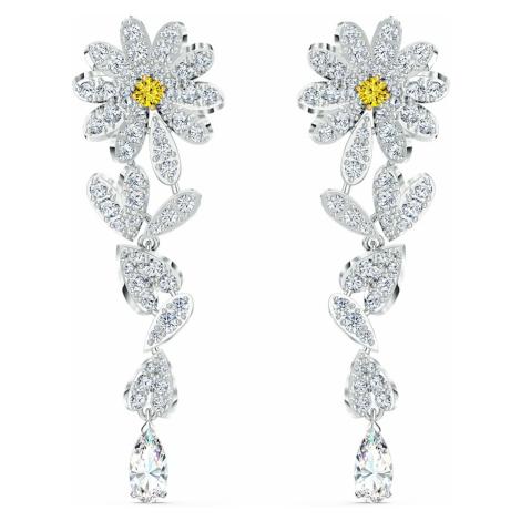 Kolczyki sztyftowe Eternal Flower, żółte, różnobarwne metale Swarovski