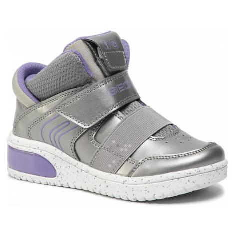 Sneakersy GEOX - J Xled G. A J848DA 0NF6K C1335 S Dk Silver/Lilac