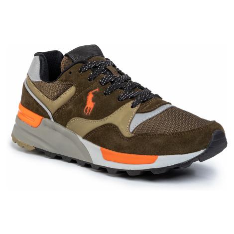 Sneakersy POLO RALPH LAUREN - Trckstr 809784342001 Deep Olive/Basketball Orange