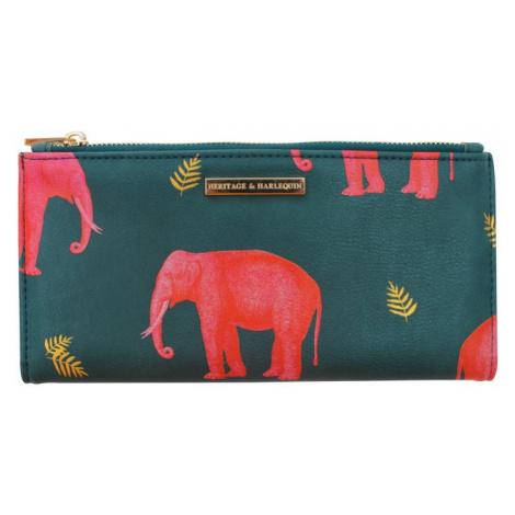 "Disaster oliwkowy portfel Heritage and Harlequin ""Elephant"" Wallet"