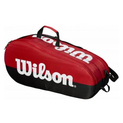 Wilson TEAM 2 COMP czerwony NS - Torba tenisowa