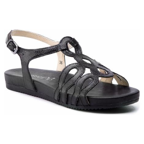 Sandały CAPRICE - 9-28102-22 Black Glitter 088