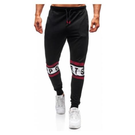 Spodnie męskie dresowe czarne Denley 6826 COMEOR