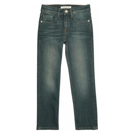 Calvin Klein Jeans Jeansy 'STRAIGHT VIEW MID STR' niebieski denim