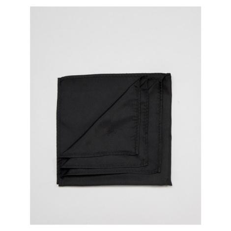 ASOS DESIGN pocket square in black