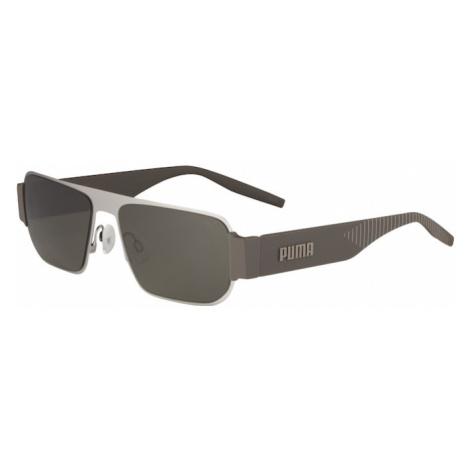 PUMA Okulary przeciwsłoneczne 'PU0283S' zielony / szary