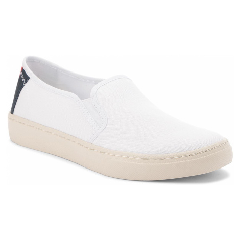 Tenisówki TOMMY JEANS - Light Slip On EM0EM00152 White 100 Tommy Hilfiger