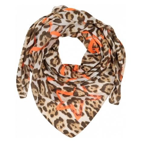 CODELLO Maska z materiału 'STYLE SAFARI' pomarańczowy / brązowy / beżowy