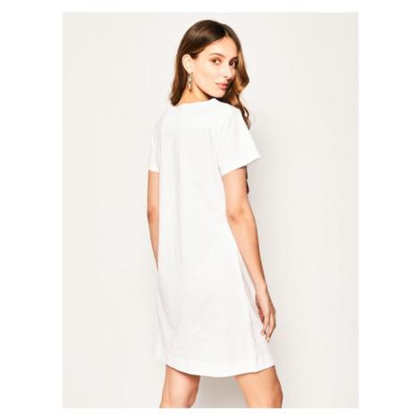 LOVE MOSCHINO Sukienka codzienna W592910M 3876 Biały Regular Fit