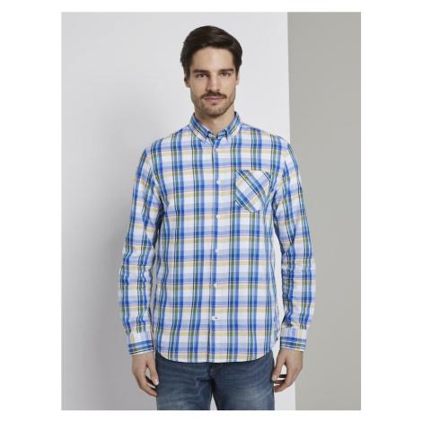 TOM TAILOR Koszula biały / niebieski