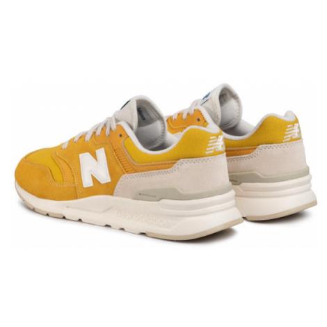 New Balance Sneakersy CM997HBR Żółty