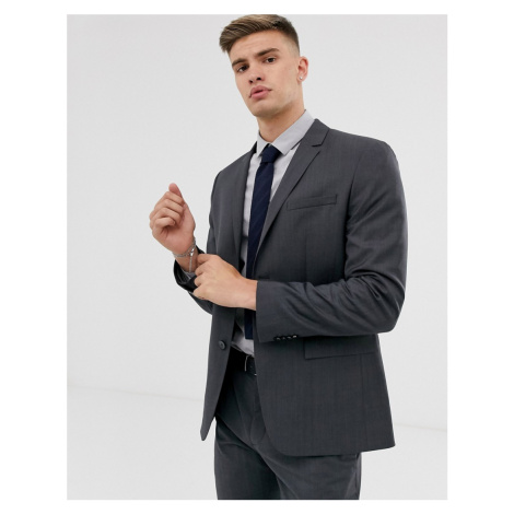 Calvin Klein textured slim fit suit jacket