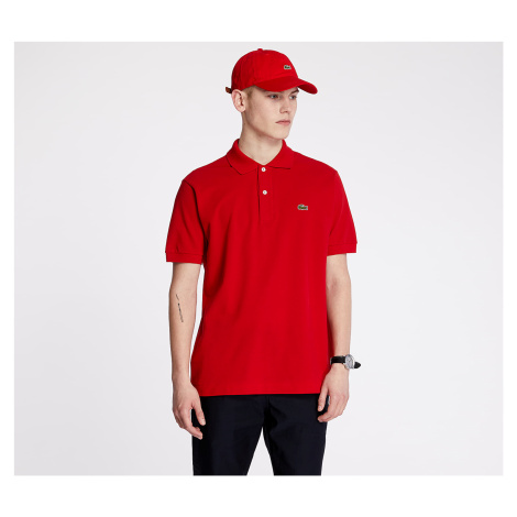 LACOSTE Polo Tee Red