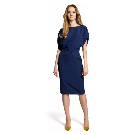 Made Of Emotion Woman's Dress M364 Navy Blue