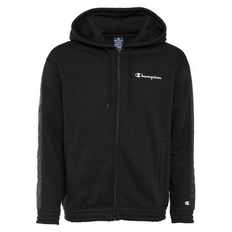 Champion Authentic Athletic Apparel Bluza rozpinana czarny / biały