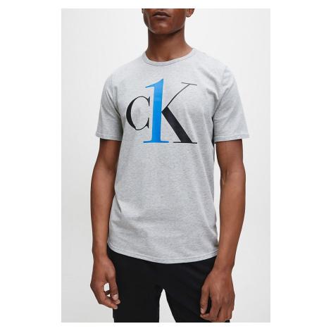 Calvin Klein szara koszulka męska S/S Crew Neck