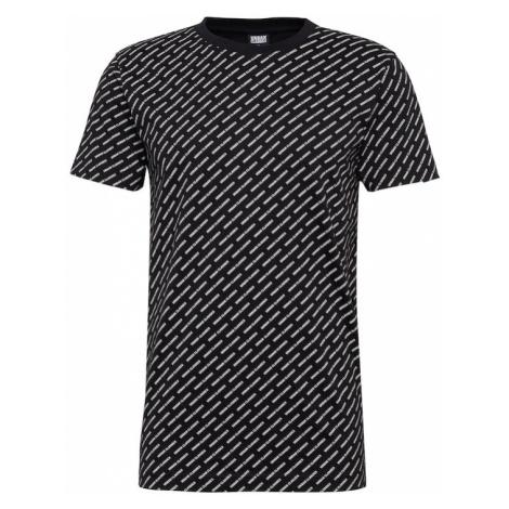 Urban Classics Koszulka 'Allover Logo Tee' czarny / biały
