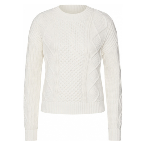 Banana Republic Sweter 'CABLE MOCKNECK' biały