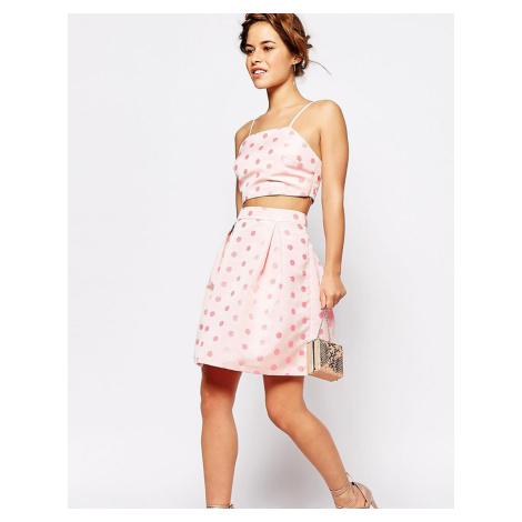 True Decadence Petite Full Prom Skirt In Textured Spot