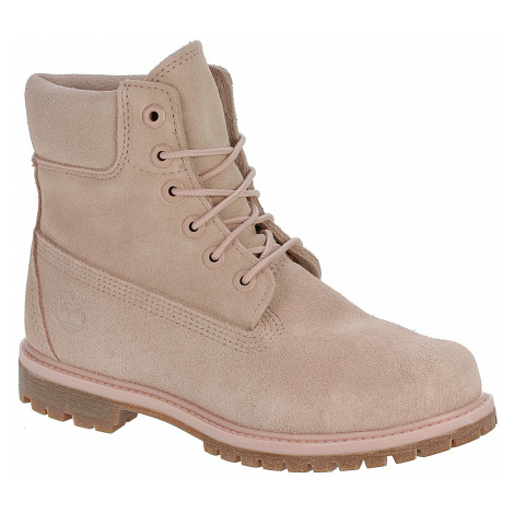 buty Timberland Icon 6 Premium Waterproof Boot - A1P7C/Light Pink Suede/Suede Collar