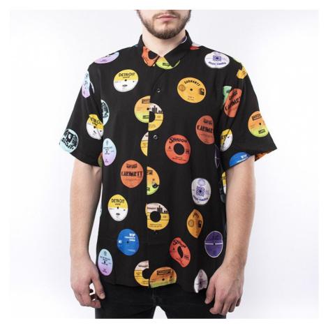 Koszula męska Carhartt WIP Record Shirt I027529 RECORD PRINT BLACK