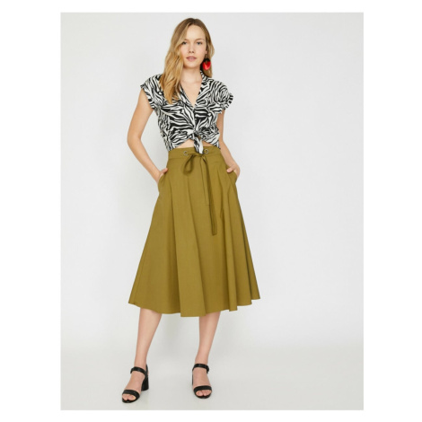 Koton Skirtly Yours Styled By Melis Agazat - Waist Baglamali Skirt