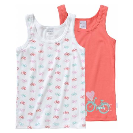 SCHIESSER Podkoszulka różowy / biały / jasnoniebieski / koralowy