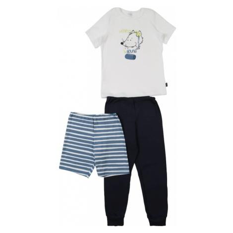 SCHIESSER Piżama niebieska noc / biały