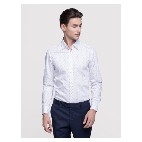 Vistula Koszula Milann XA0741 Biały Super Slim Fit