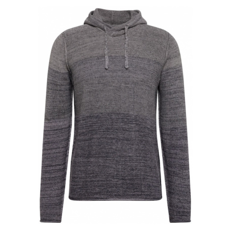 INDICODE JEANS Sweter 'Clement' nakrapiany szary