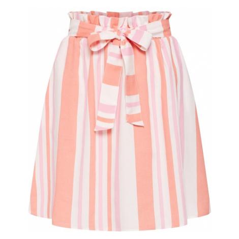 VERO MODA Spódnica 'ALICE' kremowy / jasnopomarańczowy / jasnoróżowy