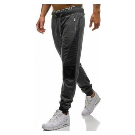 Spodnie męskie dresowe grafitowe Denley 3781