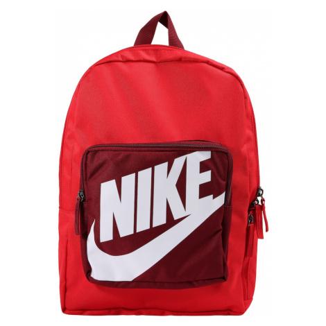 Nike Sportswear Plecak czerwony / merlot / biały