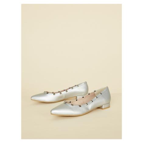 OJJU srebrne balerinki