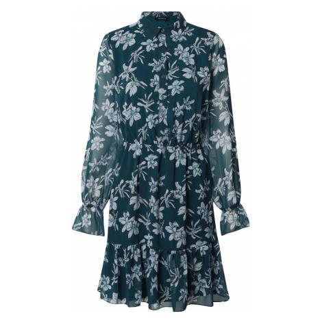 Trendyol Sukienka koszulowa turkusowy / szary / czarny