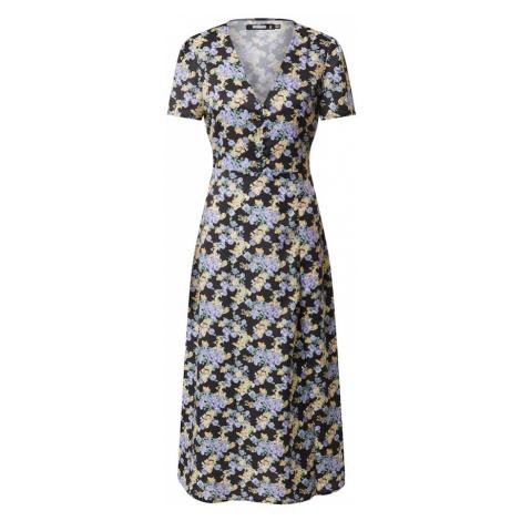 Missguided Letnia sukienka 'Tea' czarny / mieszane kolory