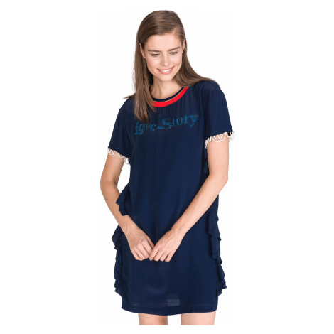 Pinko Lantana Sukienka Niebieski