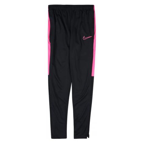 NIKE Spodnie sportowe 'Academy' różowy / czarny