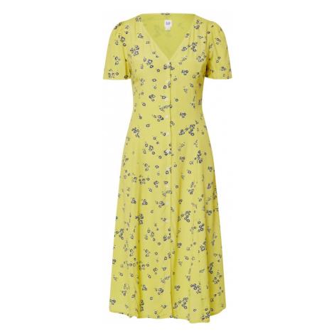 GAP Letnia sukienka 'BTN THRU MIDI DRS' żółty