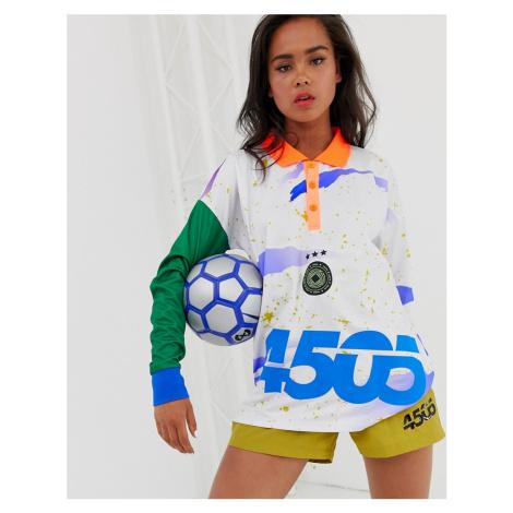 ASOS 4505 football t-shirt with long sleeve and collar