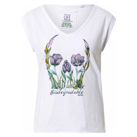 Derbe Koszulka 'Flower Skull Girls C2C' jasnozielony / biały / liliowy