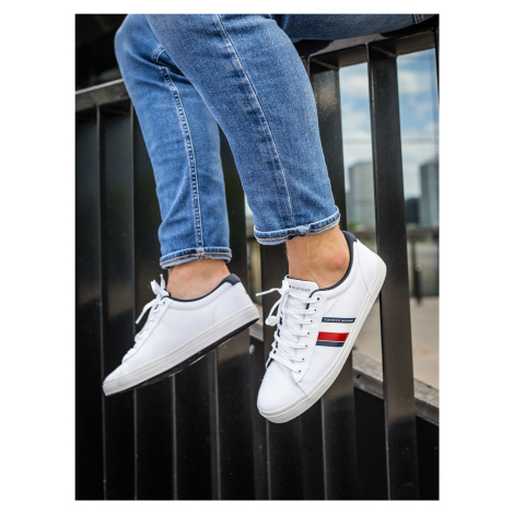 """Tommy Jeans """"Essential Stripes Detail Sneaker"""" White Tommy Hilfiger"""