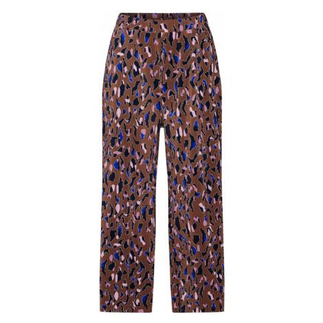 Q/S Designed By Spodnie brązowy / żółty