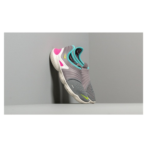 Nike Wmns Free Rn Flyknit 3.0 Gunsmoke/ Volt-Aurora Green