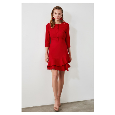Trendyol Red Button Detailed Volli dress