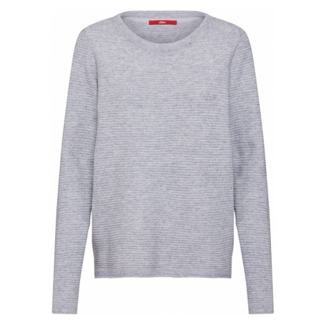 S.Oliver RED LABEL Sweter nakrapiany szary