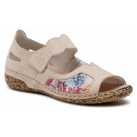 Sandały RIEKER - V7299-60 Beige Kombi