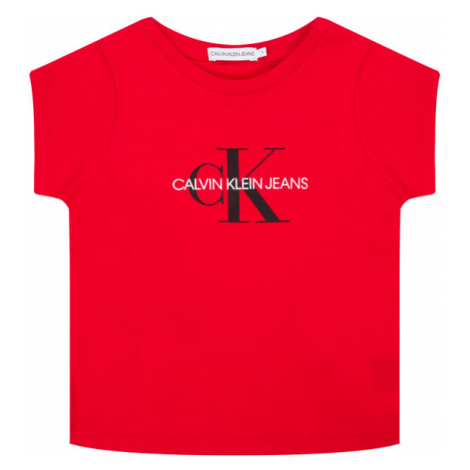 Calvin Klein Jeans T-Shirt Monogram Logo IU0IU00068 Czerwony Regular Fit